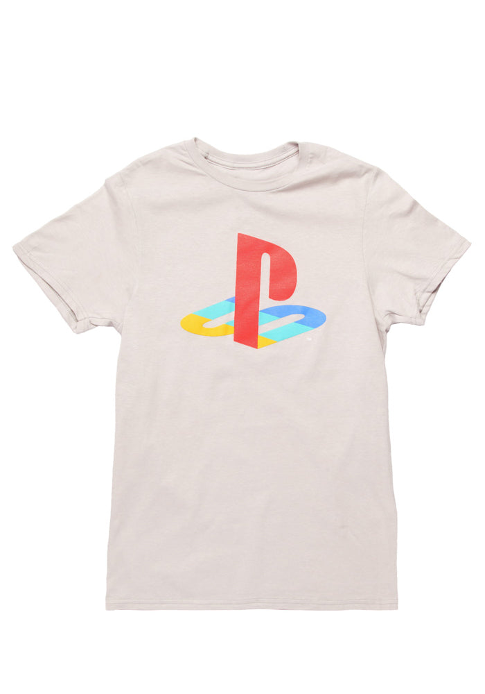 PLAYSTATION Playstation Retro Logo T-Shirt - Light Grey