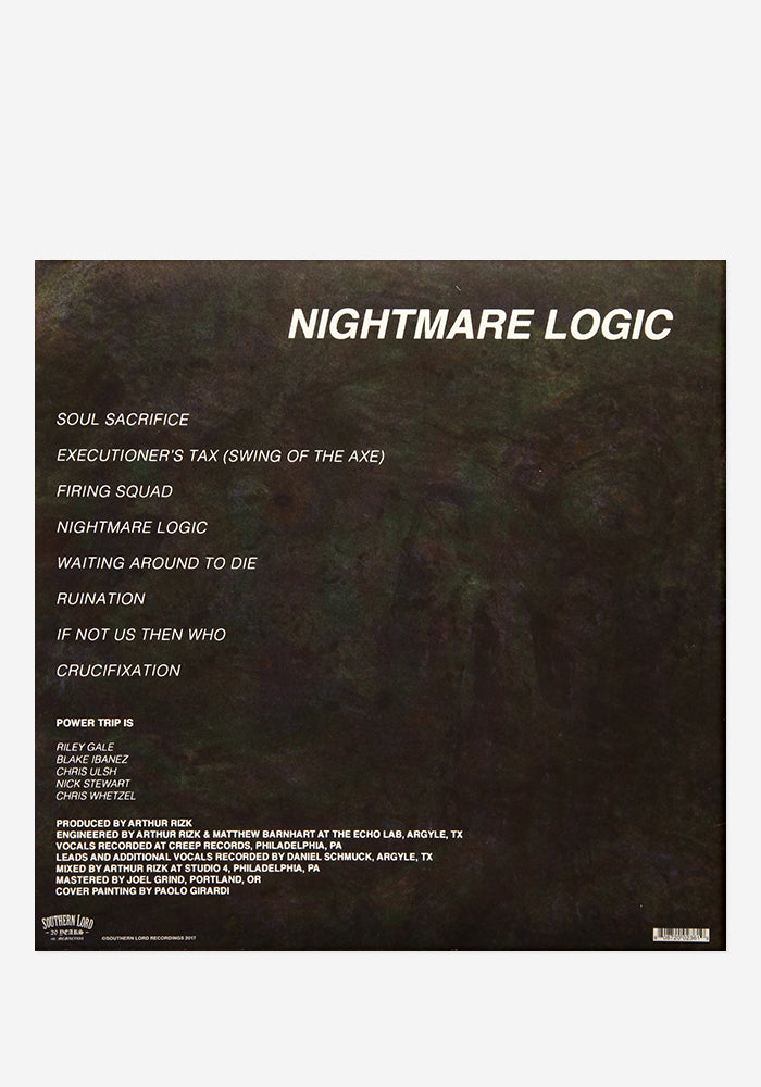 POWER TRIP Nightmare Logic Exclusive LP