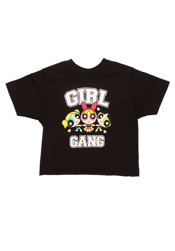 POWERPUFF GIRLS Power Puff Girl Gang Crop Top Women's T-Shirt