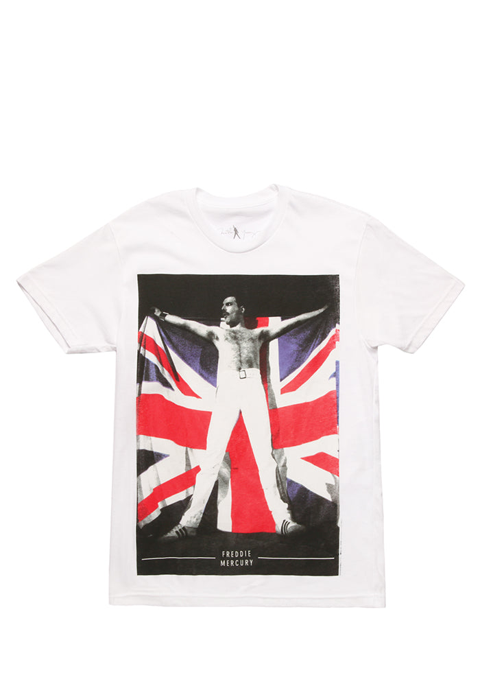 QUEEN Freddie Mercury Union Jack Flag T-Shirt