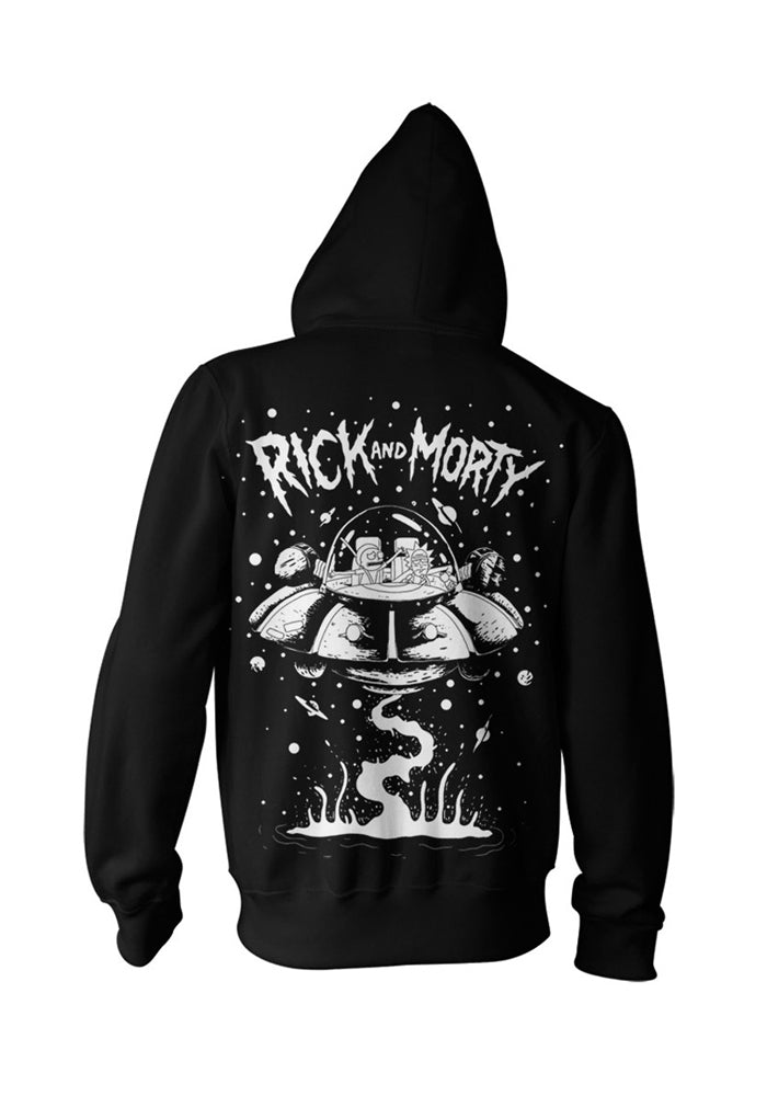 RICK AND MORTY Rick's Spaceship Zip-Up Hoodie