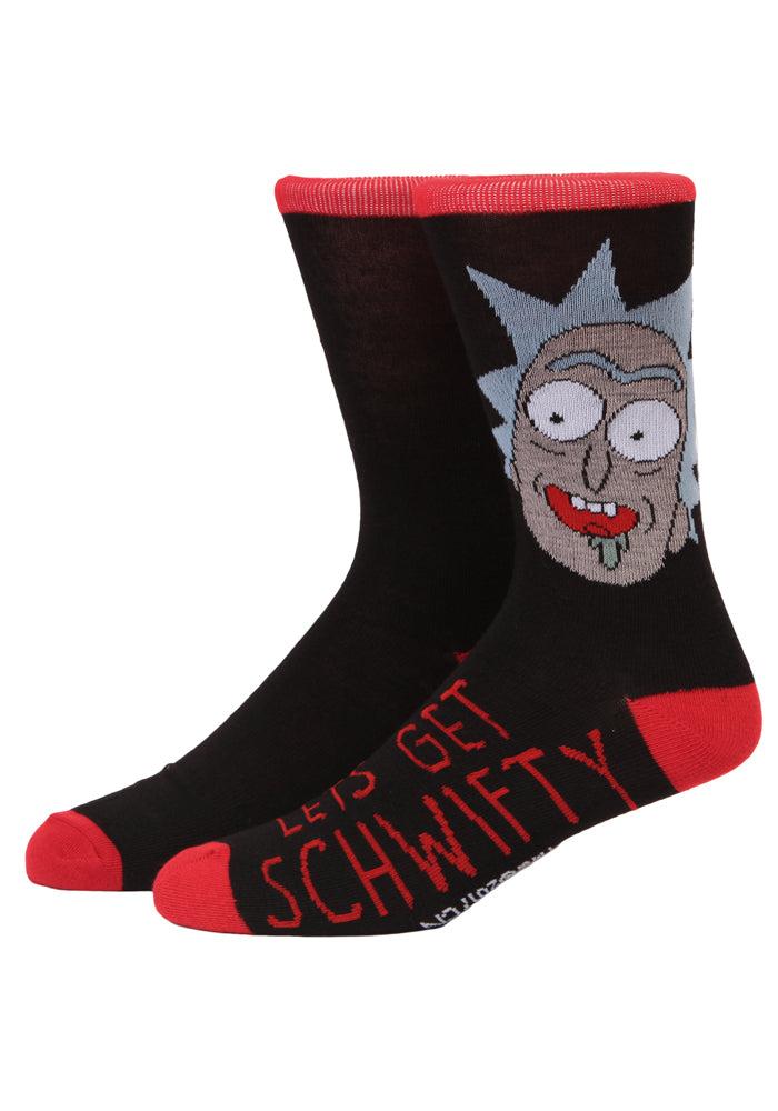 RICK AND MORTY Let's Get Schwifty Rick Crew Socks
