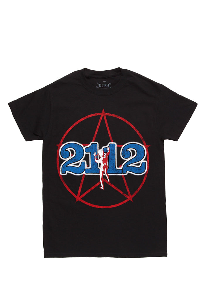 RUSH Rush 2112 Starman Logo T-Shirt - Black