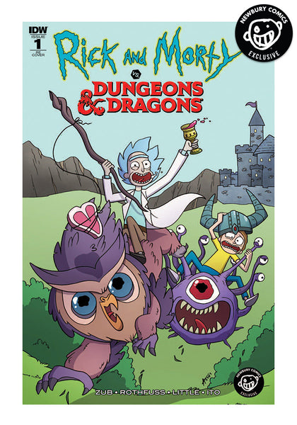 IDW PUBLISHING-Rick   Morty Vs. Dungeons   Dragons Exclusive Variant Comic   bcf6493bc71
