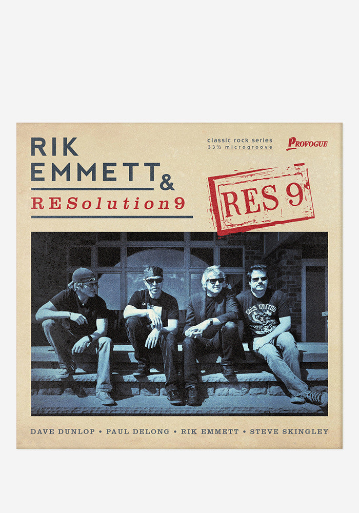 RIK EMMETT AND RESOLUTION 9 RES9 With Autographed CD Booklet