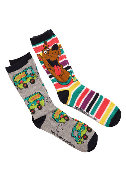 Scooby Doo Mystery Machine Scooby Stripe Crew Socks 2 Pack