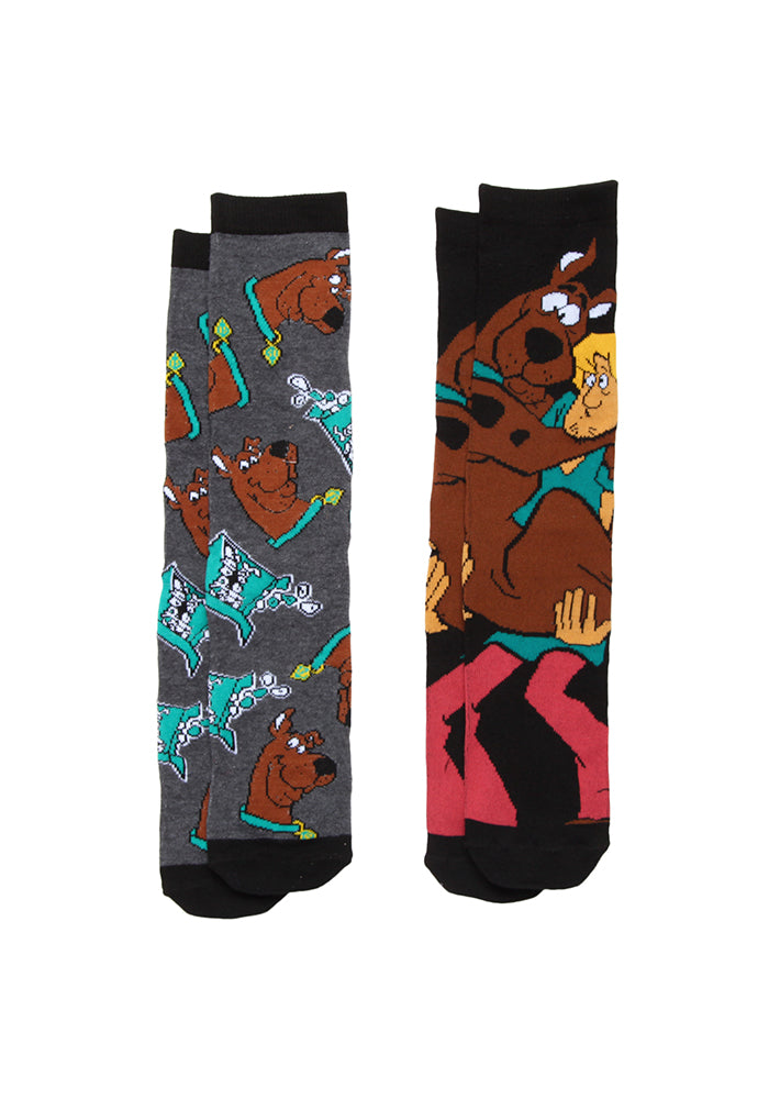 SCOOBY DOO Shaggy & Scooby With Scooby Snacks Crew Socks 2-Pack
