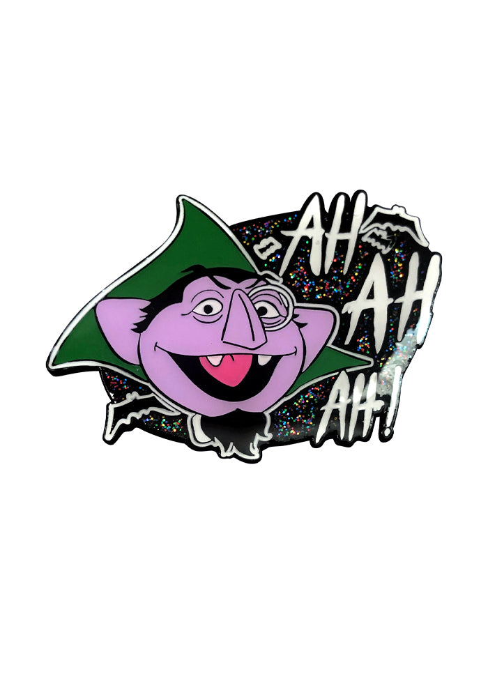 SESAME STREET Ah! Ah! Ah! The Count Enamel Pin