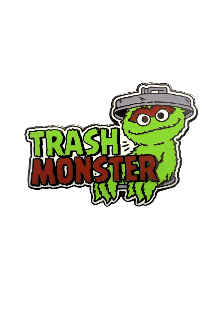 SESAME STREET Oscar The Grouch Trash Monster Enamel Pin