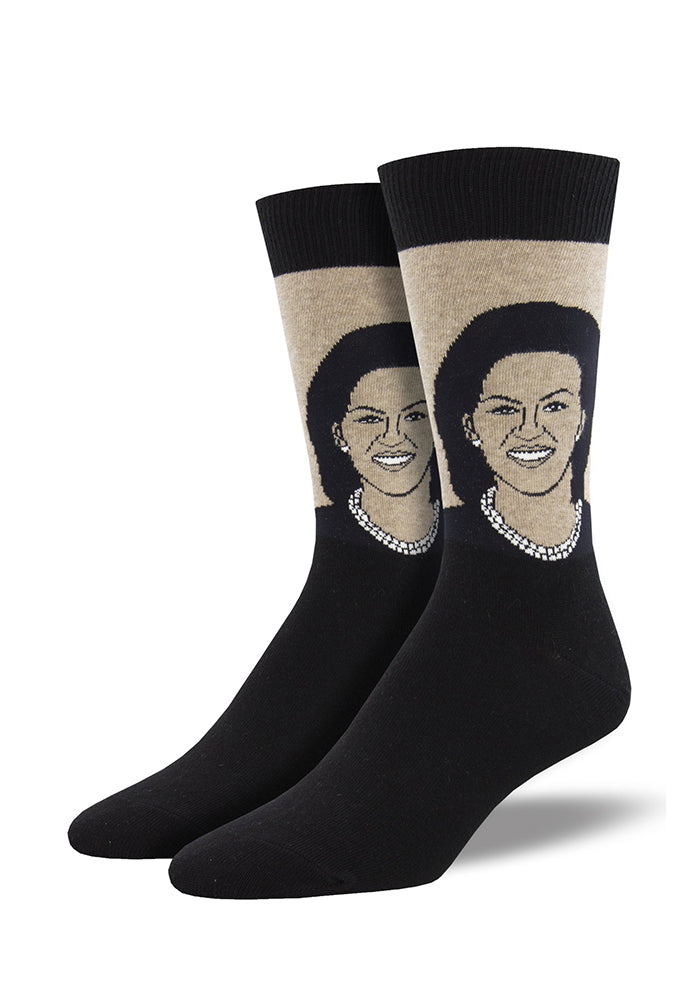 SOCKSMITH Michelle Obama Portrait Socks