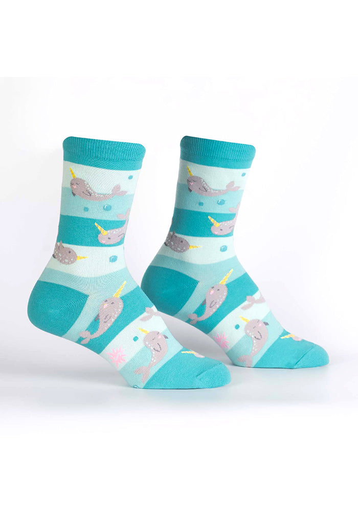 SOCK IT TO ME Unicorn of the Sea Narwhal Women's Socks