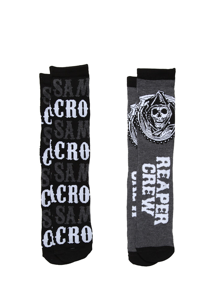 SONS OF ANARCHY SAMCRO Reaper Crew Socks 2-Pack