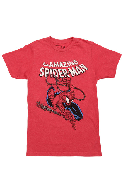 c78dda6b5c8 SPIDER-MAN-The Amazing Spider-Man Swinging Distressed T-Shirt | Newbury  Comics