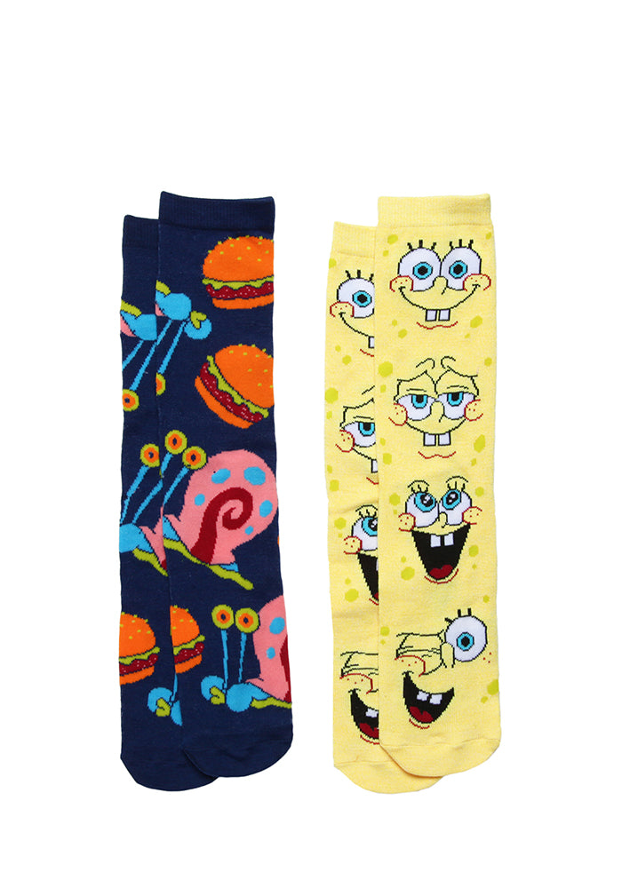 SPONGEBOB SQUAREPANTS Spongebob & Gary Socks 2-Pack