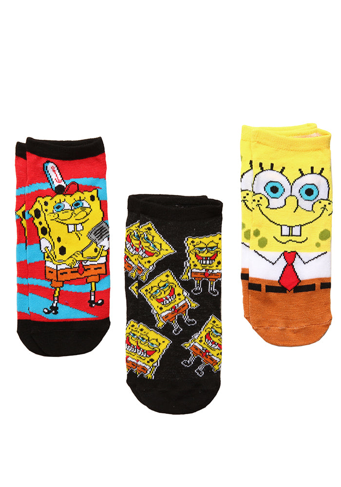 SPONGEBOB SQUAREPANTS Spongebob Spatula Ankle Socks 3-Pack