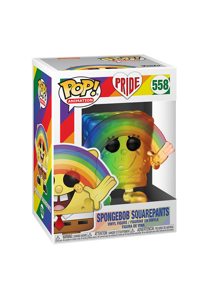 SPONGEBOB SQUAREPANTS Funko Pop! Animation: Spongebob Squarepants - Spongebob With Rainbow PRIDE