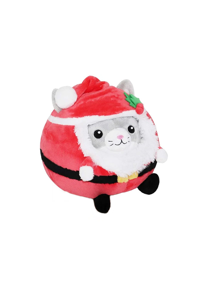 "SQUISHABLE Undercover Kitty In Santa Disguise 7"" Plush"