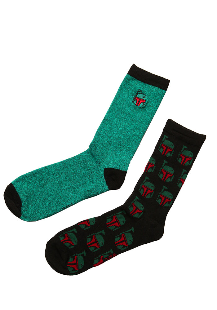 STAR WARS Boba Fett Helmet Socks 2-Pack