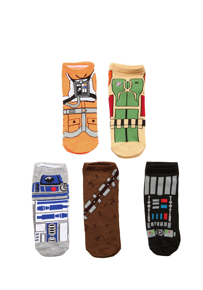 STAR WARS Character Uniforms Ankle Socks - 5-Pack