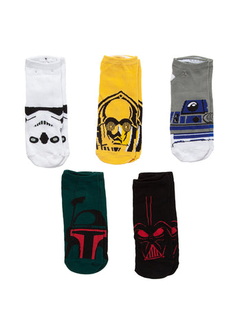 27e214fe6 STAR WARS Droids   The Empire Faces Low-Cut Socks 5-Pack