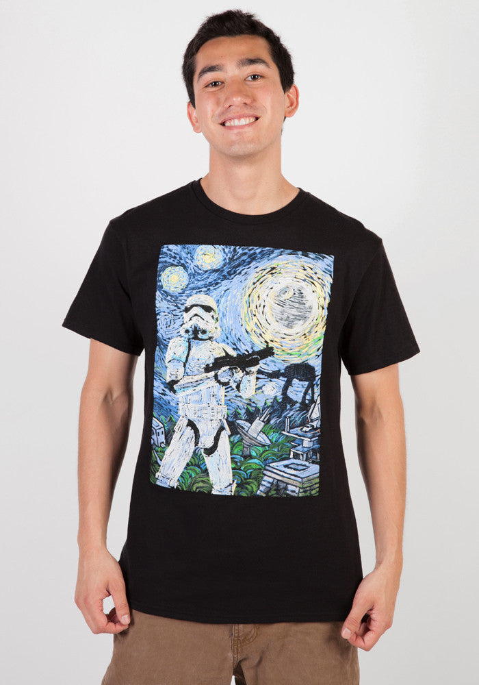 STAR WARS Stormtrooper Stormy Starry Night T-Shirt