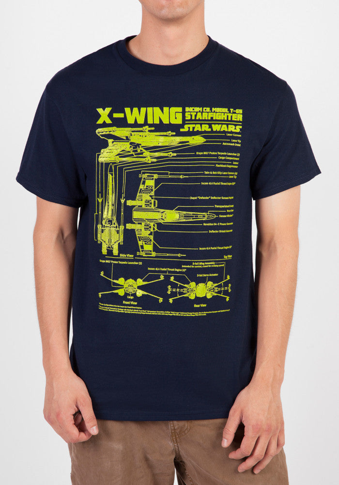 STAR WARS X-Wing Star Fighter Schematic T-Shirt