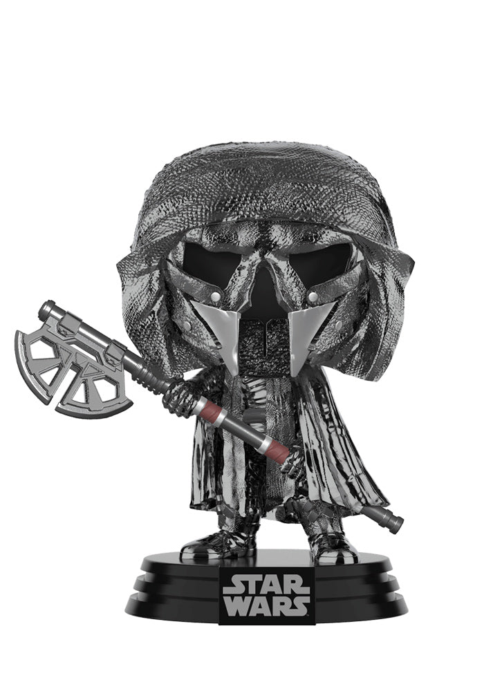 STAR WARS Funko Pop! Star Wars: The Rise Of Skywalker - Knights Of Ren Long Axe Chrome Bobblehead