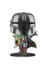 "STAR WARS Funko Pop! Star Wars: The Mandalorian - 10"" Chrome The Mandalorian With The Child"