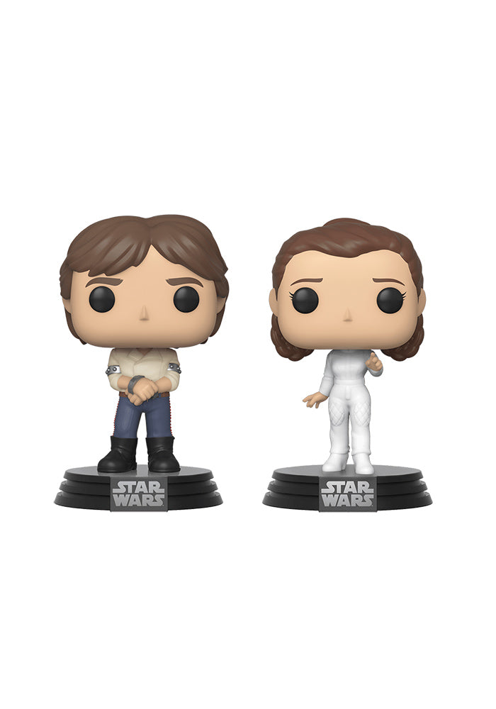 STAR WARS Funko Pop! Star Wars: The Empire Strikes Back 2 Pack - Han Solo & Princess Leia