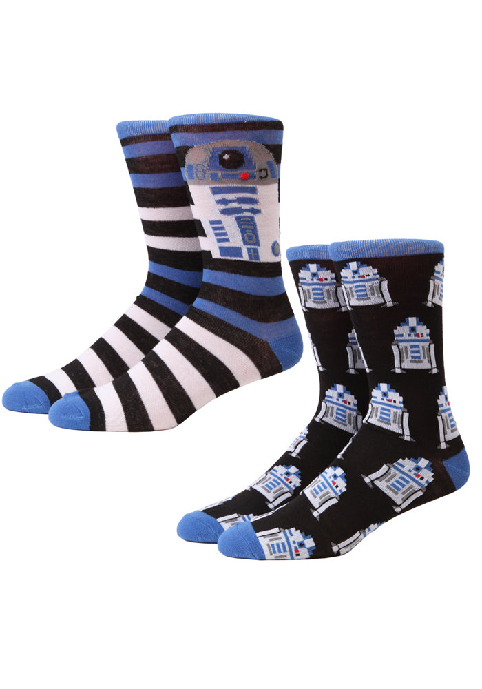 STAR WARS R2D2 Two-Tone Crew Socks 2-Pack