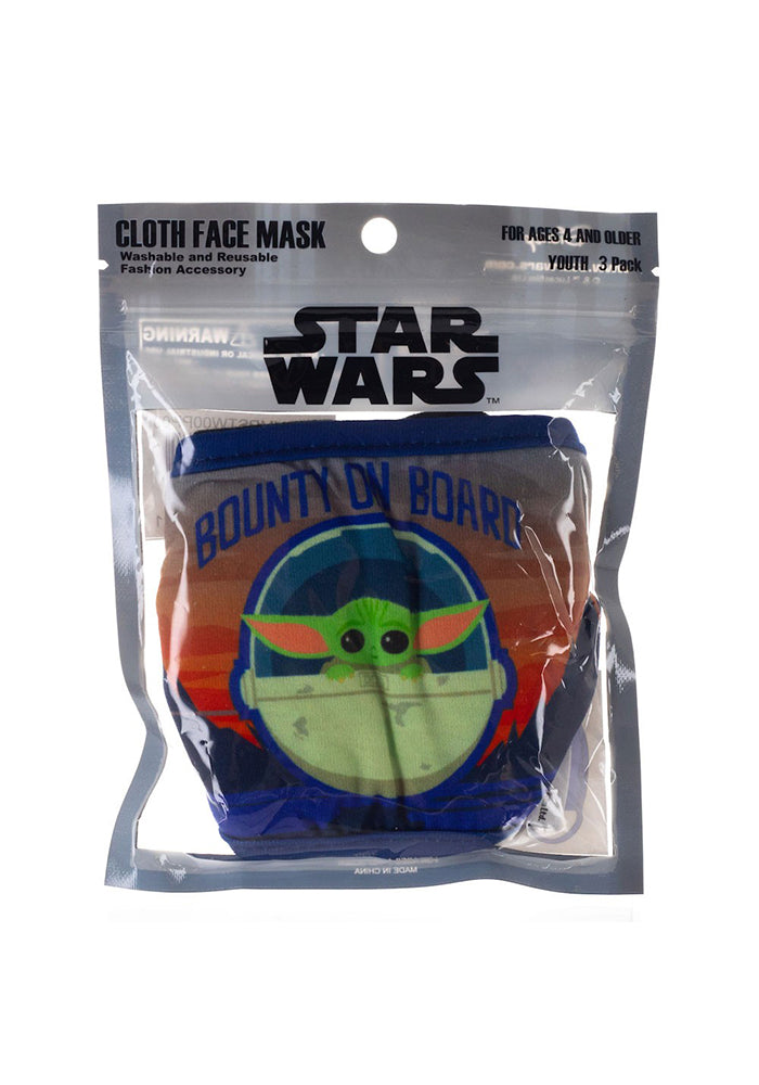 STAR WARS The Mandalorian Grogu Youth Face Masks 3-Pack