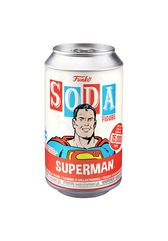 SUPERMAN Funko Vinyl SODA Figure: DC Comics - Superman