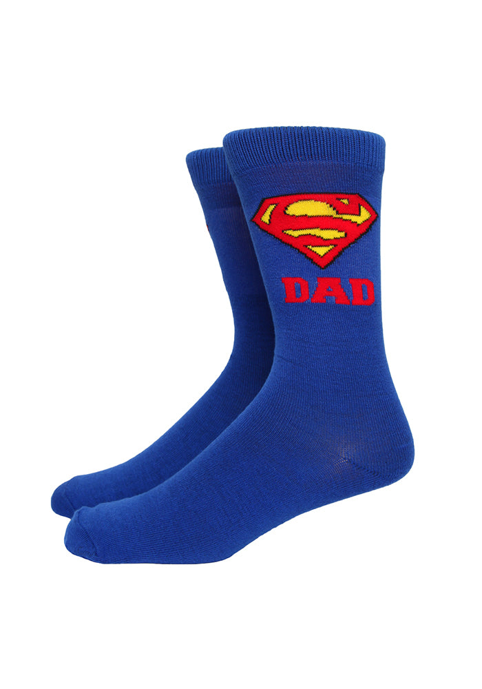 SUPERMAN Superman Super Dad Socks
