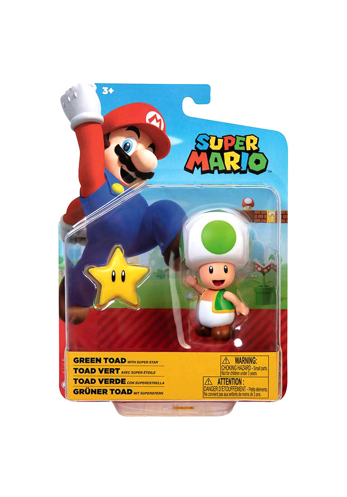 SUPER MARIO BROS World of Nintendo 4-Inch Action Figure - Green Toad