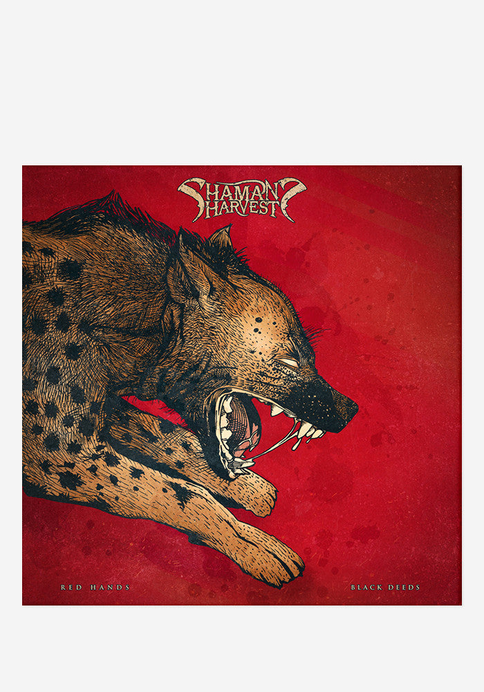 SHAMAN'S HARVEST Red Hands Black Deeds With Autographed CD Booklet
