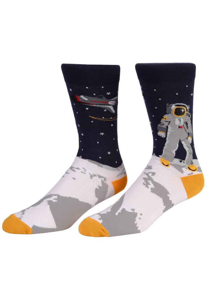 SOCK IT TO ME One Giant Leap Moon Landing Socks