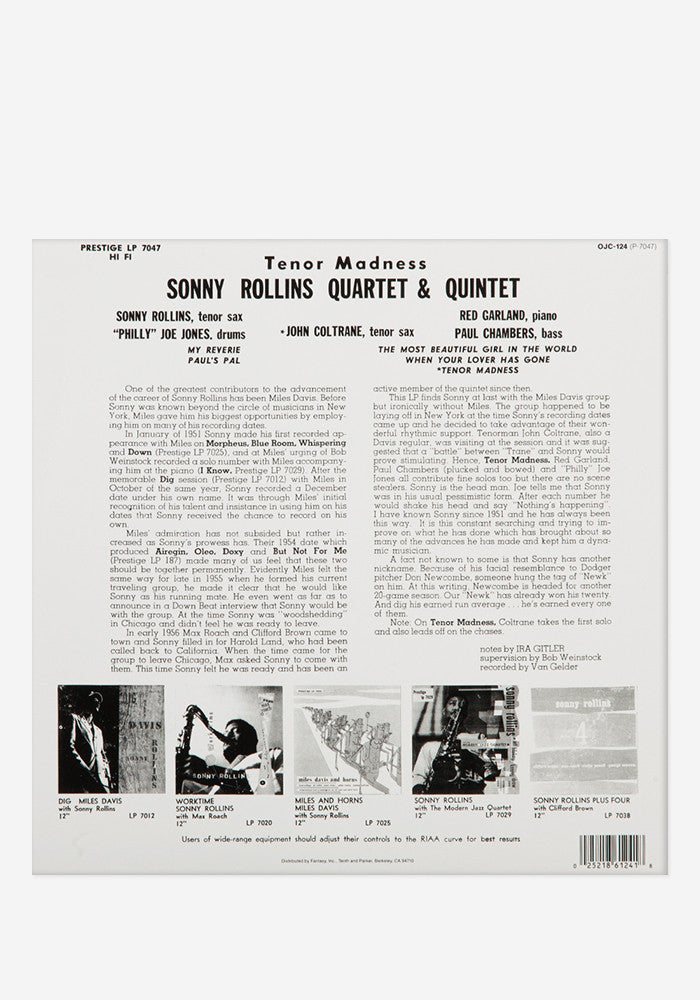 SONNY ROLLINS QUARTET Tenor Madness Exclusive LP