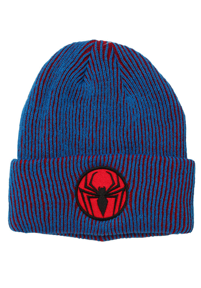 SPIDER-MAN Spider-Man Patch Logo Red/Blue Beanie