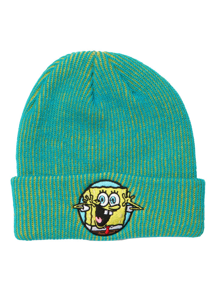 SPONGEBOB SQUAREPANTS Spongebob SquarePants Patch Yellow/Teal Beanie