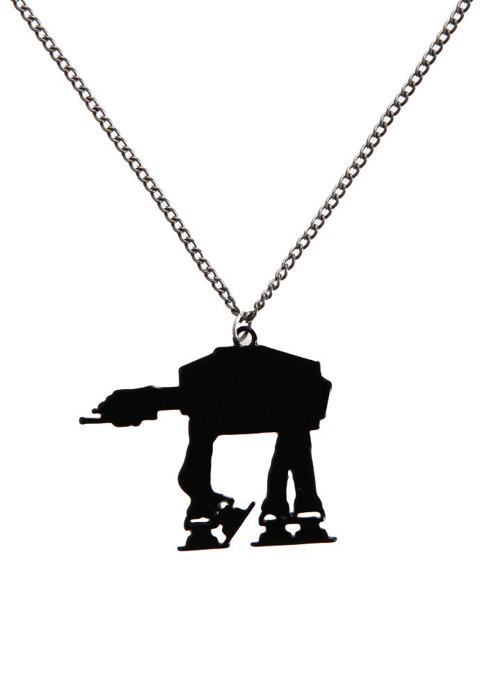 STAR WARS AT-AT Imperial Walker Silhouette Pendant Necklace