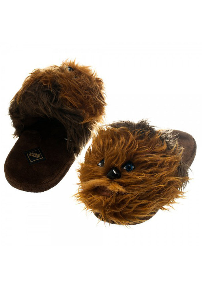 STAR WARS Chewbacca Face Plush Slippers