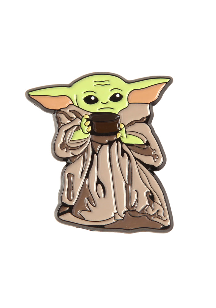STAR WARS The Mandalorian The Child With Soup Bowl Enamel Pin