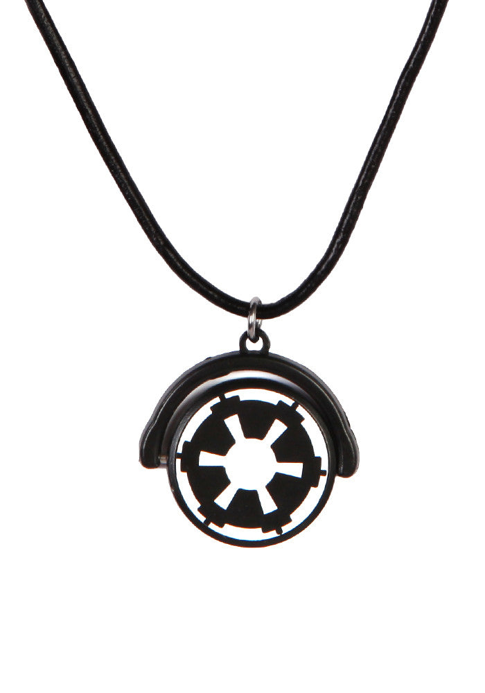 STAR WARS Galactic Empire Black Pendant Necklace
