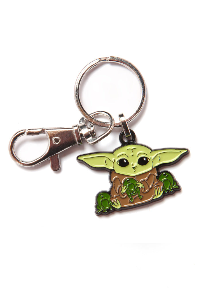 STAR WARS The Mandalorian Grogu With Frogs Keychain