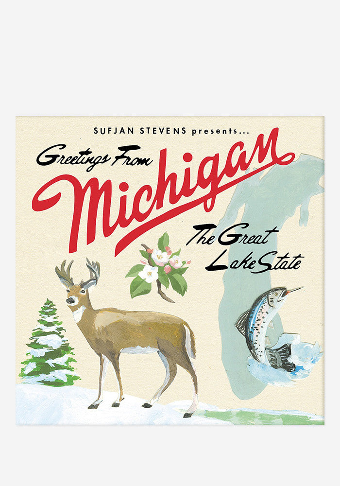 SUFJAN STEVENS Greetings From Michigan 2 LP