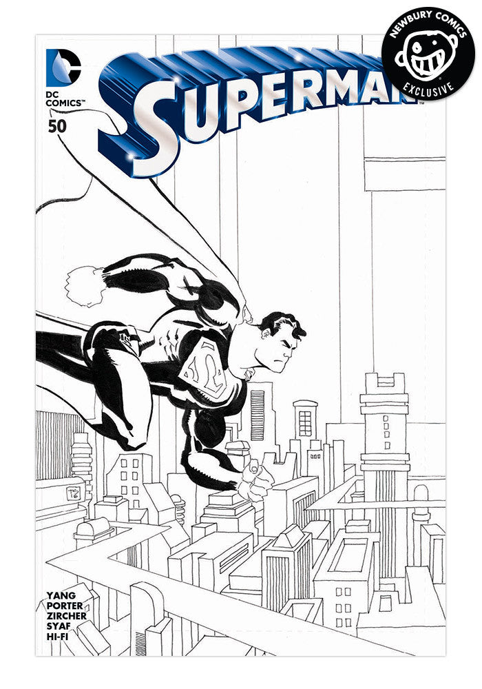 DC COMICS Superman #50 Tim Sale Variant Comic (Black & White)