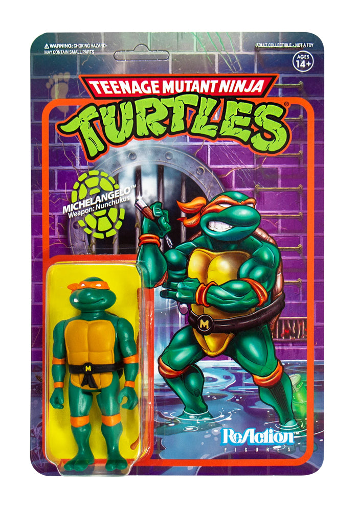 TEENAGE MUTANT NINJA TURTLES Teenage Mutant Ninja Turtles ReAction Figure - Michaelangelo