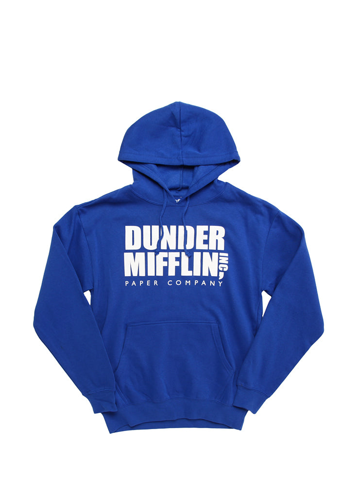 THE OFFICE Dunder Mifflin Logo Blue Pullover Hoodie
