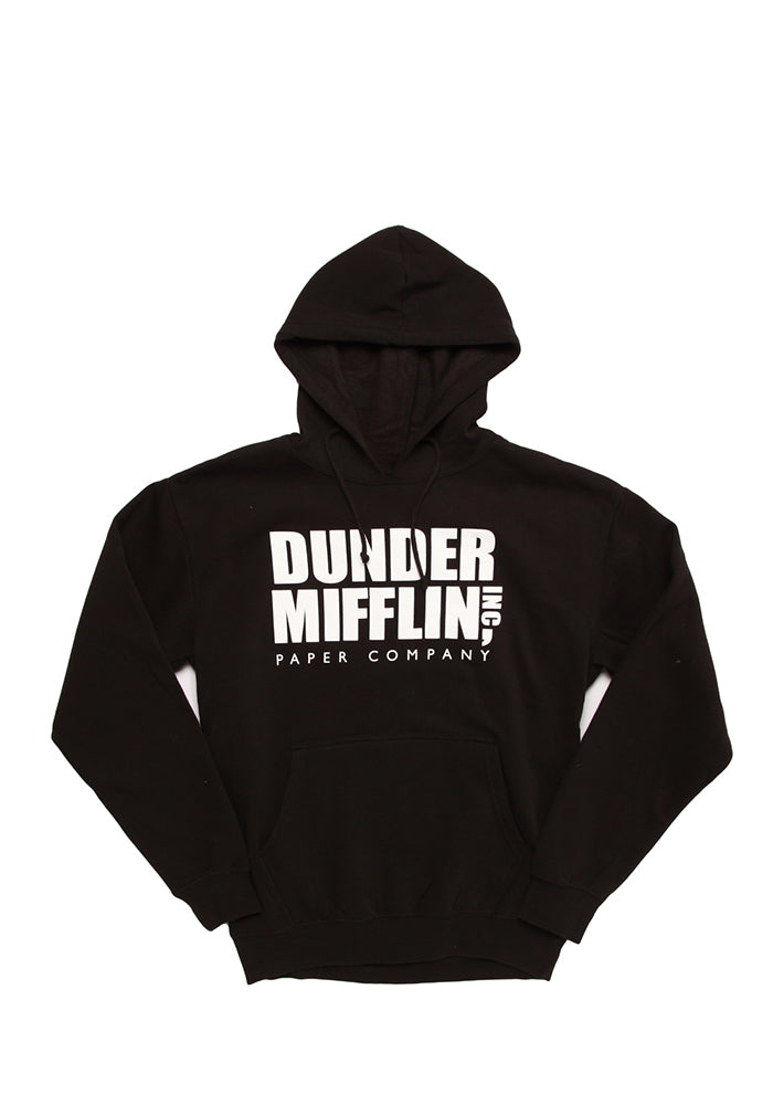 THE OFFICE Dunder Mifflin Logo Black Pullover Hoodie