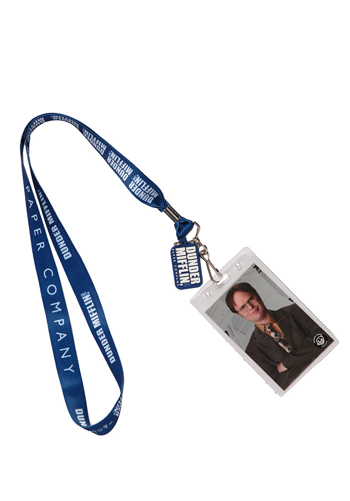 THE OFFICE Dwight Schrute Dunder Mifflin Lanyard